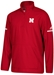 Adidas 2018 Nebraska Coaches Quarter Zip - Red - AW-B7000