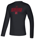 Adidas 2020 Nebraska Huskers Locker Tail Sweep LS Tee - Black Nebraska Cornhuskers, Nebraska  Long Sleeve, Huskers  Long Sleeve, Nebraska  Mens, Huskers  Mens, Nebraska  T-Shirts, Huskers  T-Shirts, Nebraska Adidas, Huskers Adidas, Nebraska Adidas Nebraska Huskers Locker Tail Sweep LS Tee - Black, Huskers Adidas Nebraska Huskers Locker Tail Sweep LS Tee - Black
