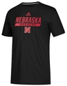 Adidas 2020 Nebraska Huskers Locker Tail Sweep Tee - Black Nebraska Cornhuskers, Nebraska  Short Sleeve, Huskers  Short Sleeve, Nebraska  Mens, Huskers  Mens, Nebraska  T-Shirts, Huskers  T-Shirts, Nebraska Adidas, Huskers Adidas, Nebraska Adidas Nebraska Huskers Locker Tail Sweep Tee - Black, Huskers Adidas Nebraska Huskers Locker Tail Sweep Tee - Black