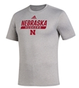 Adidas 2020 Nebraska Huskers Locker Tail Sweep Tee - Grey Nebraska Cornhuskers, Nebraska  Short Sleeve, Huskers  Short Sleeve, Nebraska  Mens, Huskers  Mens, Nebraska  T-Shirts, Huskers  T-Shirts, Nebraska Adidas, Huskers Adidas, Nebraska Adidas Nebraska Huskers Locker Tail Sweep Tee - Grey, Huskers Adidas Nebraska Huskers Locker Tail Sweep Tee - Grey