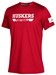 Adidas Huskers Football Locker Amped Tee - Red - AT-C5013