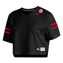 Adidas Ladies Nebraska Football Crop Jersey - Black Nebraska Cornhuskers, Nebraska  Womens Jerseys, Huskers  Womens Jerseys, Nebraska  Ladies Jerseys, Huskers  Ladies Jerseys, Nebraska Adidas, Huskers Adidas, Nebraska Adidas Ladies Nebraska Football Crop Jersey - Black, Huskers Adidas Ladies Nebraska Football Crop Jersey - Black
