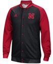 Adidas Nebraska Black Button Up Jacket Nebraska Cornhuskers, Nebraska  Mens Outerwear, Huskers  Mens Outerwear, Nebraska  Mens Sweatshirts, Huskers  Mens Sweatshirts, Nebraska  Mens, Huskers  Mens, Nebraska  Mens, Huskers  Mens, Nebraska Adidas Nebraska Full Zip Black Warmup Jacket, Huskers Adidas Nebraska Full Zip Black Warmup Jacket