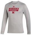 Adidas 2020 Nebraska Huskers Locker Tail Sweep LS Tee - Grey Nebraska Cornhuskers, Nebraska  Long Sleeve, Huskers  Long Sleeve, Nebraska  Mens, Huskers  Mens, Nebraska  T-Shirts, Huskers  T-Shirts, Nebraska Adidas, Huskers Adidas, Nebraska Adidas Nebraska Huskers Locker Tail Sweep LS Tee - Grey, Huskers Adidas Nebraska Huskers Locker Tail Sweep LS Tee - Grey