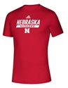 Adidas 2020 Nebraska Huskers Locker Tail Sweep Tee - Red Nebraska Cornhuskers, Nebraska  Short Sleeve, Huskers  Short Sleeve, Nebraska  Mens, Huskers  Mens, Nebraska  T-Shirts, Huskers  T-Shirts, Nebraska Adidas, Huskers Adidas, Nebraska Adidas Nebraska Huskers Locker Tail Sweep Tee - Red, Huskers Adidas Nebraska Huskers Locker Tail Sweep Tee - Red