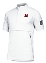 Adidas Nebraska Woven Game Mode S/S Quarter Zip - White Nebraska Cornhuskers, Nebraska  Mens Outerwear, Huskers  Mens Outerwear, Nebraska  Mens, Huskers  Mens, Nebraska Adidas, Huskers Adidas, Nebraska Adidas Nebraska Woven Game Mode S/S Quarter Zip - Black, Huskers Adidas Nebraska Woven Game Mode S/S Quarter Zip - Black