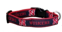 Huskers Dog Collar Nebraska cornhuskers, husker football, nebraska merchandise, husker merchandise, husker pet collar, husker dog collar, nebraska pet collar, nebraska dog collar