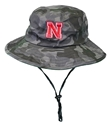Camo Blitz N Bucket Hat Nebraska Cornhuskers, Nebraska  Mens Hats, Huskers  Mens Hats, Nebraska  Mens Hats, Huskers  Mens Hats, Nebraska Camo N Furtive Bucket Hat, Huskers Camo N Furtive Bucket Hat