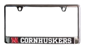 Chrome N Cornhuskers License Plate Frame Nebraska Cornhuskers, Nebraska Vehicle, Huskers Vehicle, Nebraska Chrome N Cornhuskers License Plate Frame, Huskers Chrome N Cornhuskers License Plate Frame