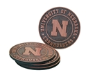 Cornhuskers Round Coaster Set Nebraska Cornhuskers, Nebraska  Kitchen & Glassware, Huskers  Kitchen & Glassware, Nebraska  Office Den & Entry, Huskers  Office Den & Entry, Nebraska Cornhuskers Round Coaster Set, Huskers Cornhuskers Round Coaster Set