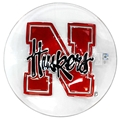 Glass Husker Bird Bath Or Snack Bowl! Nebraska Cornhuskers, Nebraska  Patio, Lawn & Garden, Huskers  Patio, Lawn & Garden, Nebraska  Summer Fun, Huskers  Summer Fun, Nebraska Glass Husker Bird Bath, Huskers Glass Husker Bird Bath