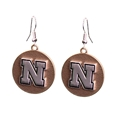 Gold N Silver Husker Earrings Nebraska Cornhuskers, Nebraska  Ladies Accessories, Huskers  Ladies Accessories, Nebraska  Jewelry & Hair, Huskers  Jewelry & Hair, Nebraska  Ladies, Huskers  Ladies, Nebraska Gold N Silver Husker Earrings, Huskers Gold N Silver Husker Earrings