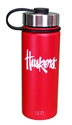 Huskers 18 Stainless Steel Bottle Nebraska Cornhuskers, Nebraska  Kitchen & Glassware, Huskers  Kitchen & Glassware, Nebraska  Tailgating, Huskers  Tailgating, Nebraska Huskers 18 Stainless Steel Bottle, Huskers Huskers 18 Stainless Steel Bottle