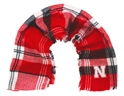 Huskers Plaid Blanket Scarf Nebraska Cornhuskers, Nebraska  Ladies Accessories, Huskers  Ladies Accessories, Nebraska  Ladies, Huskers  Ladies, Nebraska Huskers Plaid Blanket Scarf, Huskers Huskers Plaid Blanket Scarf