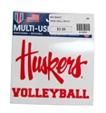 Huskers Volleyball Decal Nebraska Cornhuskers, Nebraska Stickers Decals & Magnets, Huskers Stickers Decals & Magnets, Nebraska Volleyball, Huskers Volleyball, Nebraska Huskers Volleyball Decal, Huskers Huskers Volleyball Decal