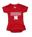 Infant Girls Nebraska Huskers Ruffle Hopper Onesie Nebraska Cornhuskers, Nebraska  Infant, Huskers  Infant, Nebraska Infant Girls Nebraska Huskers Ruffle Hopper Onesie, Huskers Infant Girls Nebraska Huskers Ruffle Hopper Onesie