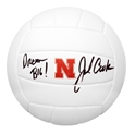 John Cook Autographed White Huskers Volleyball Nebraska Cornhuskers, husker volleyball, nebraska cornhuskers merchandise, husker merchandise, nebraska merchandise, husker memorabilia, husker autographed, nebraska cornhuskers autographed, John Cook autographed, John Cook signed, John Cook collectible, John Cook, nebraska cornhuskers memorabilia, nebraska cornhuskers collectible, John Cook Autographed  Volleyball