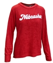 Ladies Chenille Cuddle Knit Nebraska Huskers Crew - Ruby Nebraska Cornhuskers, Nebraska  Ladies Sweatshirts, Huskers  Ladies Sweatshirts, Nebraska  Ladies, Huskers  Ladies, Nebraska  Crew, Huskers  Crew, Nebraska Ladies Chenille Cuddle Knit Nebraska Huskers Crew - Ruby, Huskers Ladies Chenille Cuddle Knit Nebraska Huskers Crew - Ruby