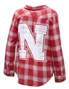 Ladies Husker Gameday Flannel Nebraska Cornhuskers, Nebraska  Ladies Tops, Huskers  Ladies Tops, Nebraska Ladies Husker Gameday Flannel, Huskers Ladies Husker Gameday Flannel