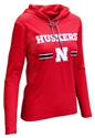 Ladies Husker Stripe LS Hoodie Tee Nebraska Cornhuskers, Nebraska  Long Sleeve, Huskers  Long Sleeve, Nebraska  Ladies, Huskers  Ladies, Nebraska  Ladies T-Shirts, Huskers  Ladies T-Shirts, Nebraska Ladies Husker Stripe LS Hoodie Tee, Huskers Ladies Husker Stripe LS Hoodie Tee