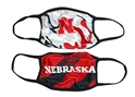 Multi Color 2 Pack Husker Masks Nebraska Cornhuskers, Nebraska  Ladies, Huskers  Ladies, Nebraska  Mens, Huskers  Mens, Nebraska  Mens Accessories, Huskers  Mens Accessories, Nebraska  Ladies Accessories, Huskers  Ladies Accessories, Nebraska Nebraska Huskers Mask, Huskers Nebraska Huskers 2 pack Mask