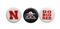 Nebraska Button Set Nebraska Cornhuskers, Nebraska  Beads & Fun Stuff, Huskers  Beads & Fun Stuff, Nebraska  Mens Accessories, Huskers  Mens Accessories, Nebraska  Ladies Accessories, Huskers  Ladies Accessories, Nebraska Nebraska Button Set, Huskers Nebraska Button Set