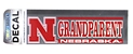 Nebraska Grandparent Decal Nebraska Cornhuskers, Nebraska Vehicle, Huskers Vehicle, Nebraska Stickers Decals & Magnets, Huskers Stickers Decals & Magnets, Nebraska Nebraska Grandparent Decal, Huskers Nebraska Grandparent Decal