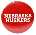 Nebraska Huskers Mirror Nebraska Cornhuskers, Nebraska  Beads & Fun Stuff, Huskers  Beads & Fun Stuff, Nebraska Red 3 Inch Mirror Button CS, Huskers Red 3 Inch Mirror Button CS