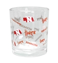 Nebraska Over Rocks Glass Nebraska Cornhuskers, Nebraska  Kitchen & Glassware, Huskers  Kitchen & Glassware, Nebraska Nebraska All Over Printed Rocks Glass Memory Company, Huskers Nebraska All Over Printed Rocks Glass Memory Company