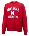 Nebraska Reverse Weave Champion Crew - Red Nebraska Cornhuskers, Nebraska  Mens Sweatshirts, Huskers  Mens Sweatshirts, Nebraska  Mens, Huskers  Mens, Nebraska  Crew, Huskers  Crew, Nebraska Nebraska Reverse Weave Champion Crew - Red, Huskers Nebraska Reverse Weave Champion Crew - Red