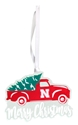 Nebraska Truck N Tree Christmas Ornament Nebraska Cornhuskers, Nebraska  Holiday Items, Huskers  Holiday Items, Nebraska Nebraska Truck N Tree Christmas Ornament , Huskers Nebraska Truck N Tree Christmas Ornament