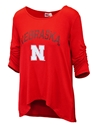 Nebraska Womens Anna Scrunch Tee Nebraska Cornhuskers, Nebraska  Ladies Tops, Huskers  Ladies Tops, Nebraska Nebraska Womens Anna Scrunch Tee, Huskers Nebraska Womens Anna Scrunch Tee