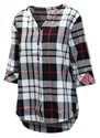 Nebraska Womens Button Plaid Tunic Nebraska Cornhuskers, Nebraska  Ladies Tops, Huskers  Ladies Tops, Nebraska Nebraska Womens Button Plaid Tunic, Huskers Nebraska Womens Button Plaid Tunic