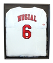 Stan Musial Autographed Cardinals Jersey in Shadow Box