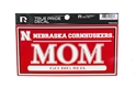 True Pride Nebraska Mom Decal Nebraska Cornhuskers, Nebraska Stickers Decals & Magnets, Huskers Stickers Decals & Magnets, Nebraska True Pride Nebraska Mom Decal, Huskers True Pride Nebraska Mom Decal