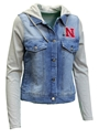 Womens Nebraska Denim Hoodie Jacket Nebraska Cornhuskers, Nebraska  Ladies Outerwear, Huskers  Ladies Outerwear, Nebraska  Ladies, Huskers  Ladies, Nebraska Womens Nebraska Denim Hoodie Jacket, Huskers Womens Nebraska Denim Hoodie Jacket