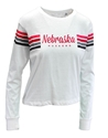 Womens Nebraska Huskers Retro Stripe LS Tee Nebraska Cornhuskers, Nebraska  Ladies, Huskers  Ladies, Nebraska  Long Sleeve, Huskers  Long Sleeve, Nebraska  Ladies T-Shirts, Huskers  Ladies T-Shirts, Nebraska  Ladies Tops, Huskers  Ladies Tops, Nebraska Womens Nebraska Huskers Retro Stripe LS Tee , Huskers Womens Nebraska Huskers Retro Stripe LS Tee
