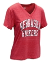 Womens Nebraska Huskers V-neck Nebraska Cornhuskers, Nebraska  Ladies, Huskers  Ladies, Nebraska  Short Sleeve, Huskers  Short Sleeve, Nebraska  Ladies T-Shirts, Huskers  Ladies T-Shirts, Nebraska Womens Nebraska Huskers V-neck, Huskers Womens Nebraska Huskers V-neck