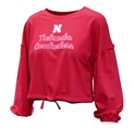 Youth Gals Cornhuskers Zara LS Top Nebraska Cornhuskers, Nebraska  Youth , Huskers  Youth , Nebraska Youth Girls Love Nebraska Zara LS Top, Huskers Youth Girls Love Nebraska Zara LS Top