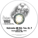1992 Middle Tennesee State Husker football, Nebraska cornhuskers merchandise, husker merchandise, nebraska merchandise, nebraska cornhuskers dvd, husker dvd, nebraska football dvd, nebraska cornhuskers videos, husker videos, nebraska football videos, husker game dvd, husker bowl game dvd, husker dvd subscription, nebraska cornhusker dvd subscription, husker football season on dvd, nebraska cornhuskers dvd box sets, husker dvd box sets, Nebraska Cornhuskers, 1992 Middle Tennessee State