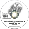 1992 Arizona State Husker football, Nebraska cornhuskers merchandise, husker merchandise, nebraska merchandise, nebraska cornhuskers dvd, husker dvd, nebraska football dvd, nebraska cornhuskers videos, husker videos, nebraska football videos, husker game dvd, husker bowl game dvd, husker dvd subscription, nebraska cornhusker dvd subscription, husker football season on dvd, nebraska cornhuskers dvd box sets, husker dvd box sets, Nebraska Cornhuskers, 1992 Arizona State