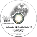 1993 Orange Bowl vs. Florida State Husker football, Nebraska cornhuskers merchandise, husker merchandise, nebraska merchandise, nebraska cornhuskers dvd, husker dvd, nebraska football dvd, nebraska cornhuskers videos, husker videos, nebraska football videos, husker game dvd, husker bowl game dvd, husker dvd subscription, nebraska cornhusker dvd subscription, husker football season on dvd, nebraska cornhuskers dvd box sets, husker dvd box sets, Nebraska Cornhuskers, 1993 Orange Bowl vs. Florida State
