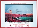 Coach Osborne Autographed Game Day Rainbow Poster Nebraska Cornhuskers, husker football, nebraska cornhuskers merchandise, husker merchandise, nebraska merchandise, husker memorabilia, husker autographed, nebraska cornhuskers autographed, Tom Osborne autographed, Tom Osborne signed, Tom Osborne collectible, Tom Osborne, nebraska cornhuskers memorabilia, nebraska cornhuskers collectible, Autographed Rainbow Poster